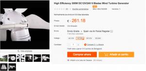 comprar generador eolico