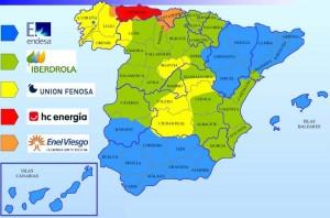 mapa companias electricas espana